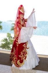 Свадебное платье на кыз узату. Казахский национальный костюм