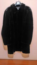 Мужская Шуба(канадска норка), цвет черный бриллиант,  размер 52-54